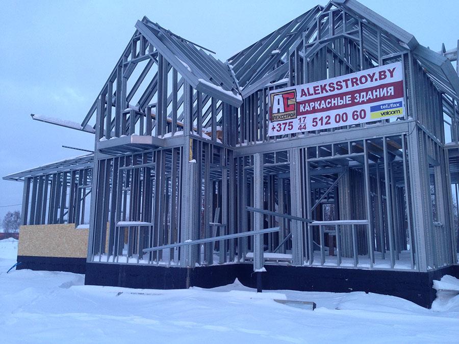 металлический каркас дома из легких стальных тонкостенных металлоконструкций