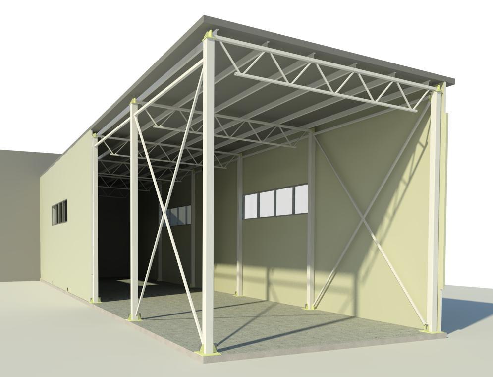проектирование складов - модель склада в разрезе
