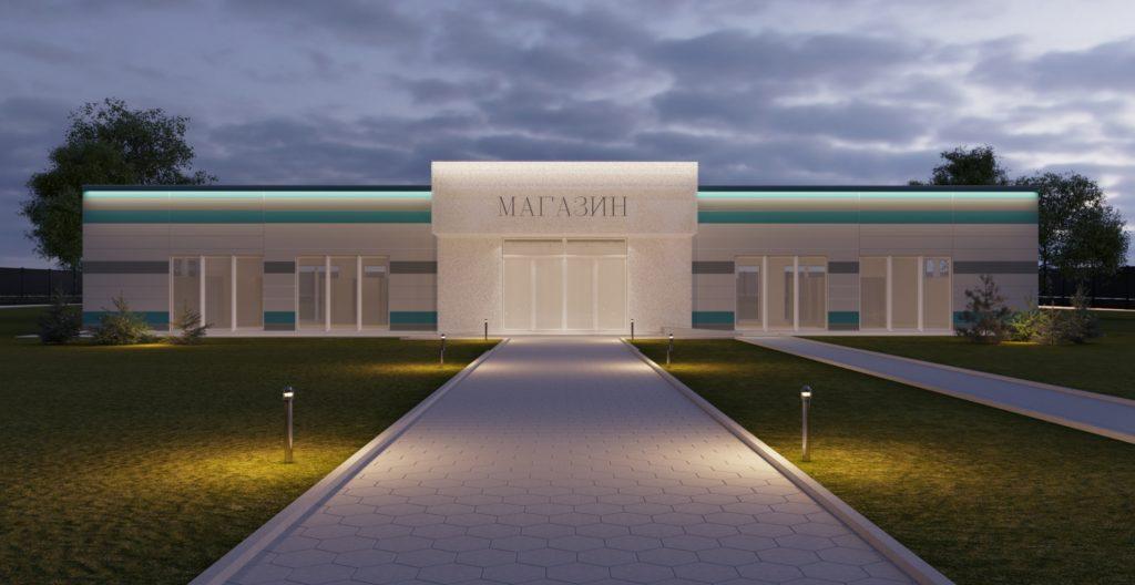 Изображение торгового объекта (павильона) с фасада